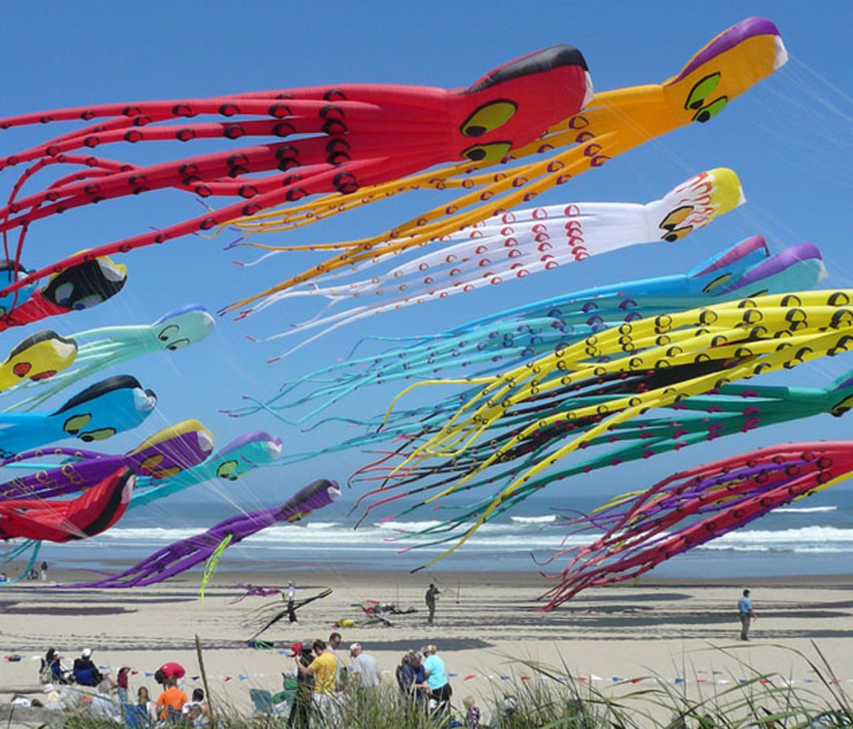Octopile at Lincoln City Kite Festival.