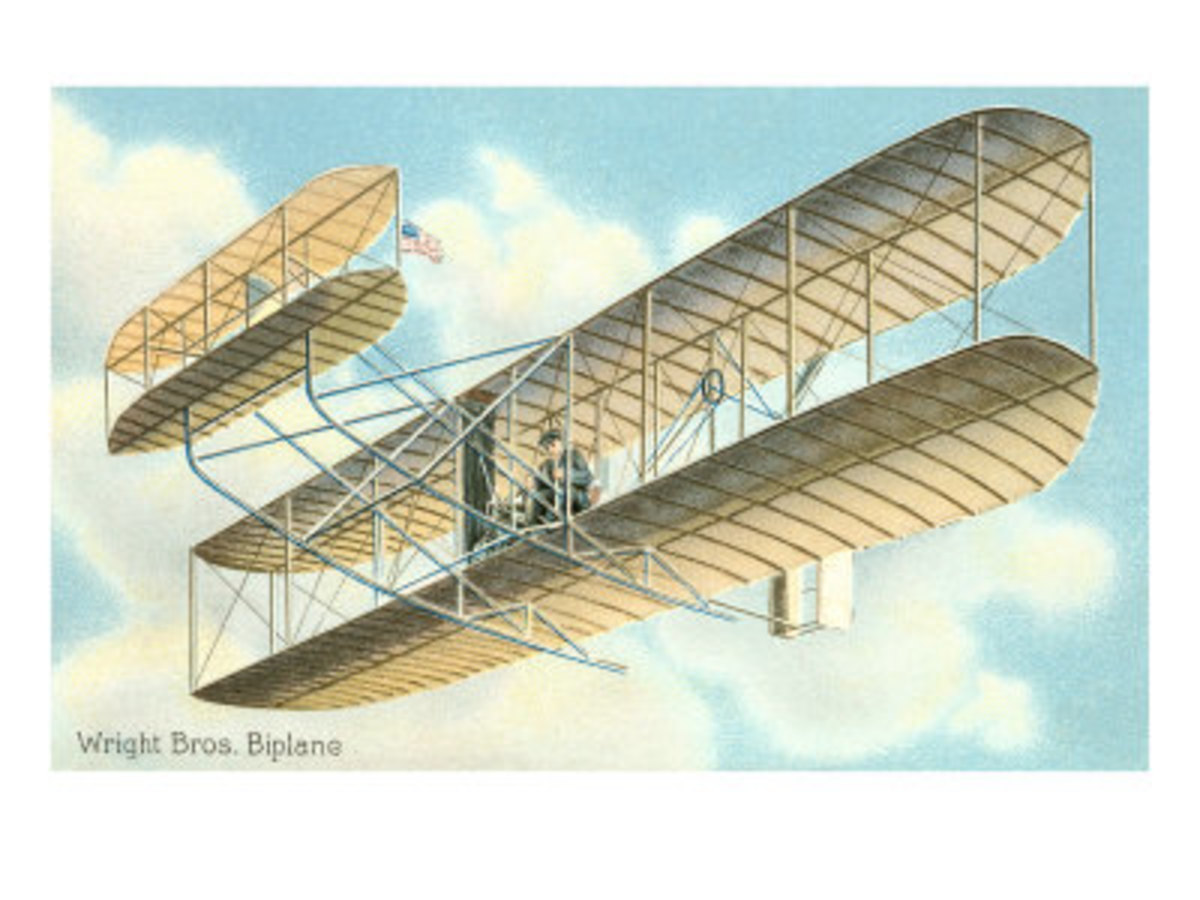 The Wright Biplane. A box kite with an engine!