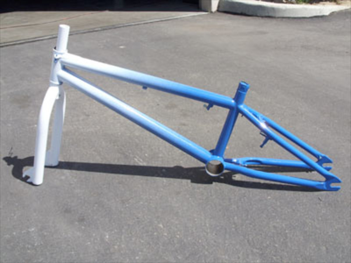 Finished Product: Gradient Painted BMX Frame