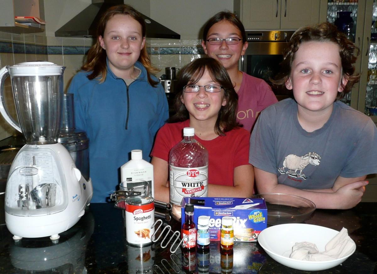 Our Budding Scientists: Grace, Sarah, Melissa, Sarah
