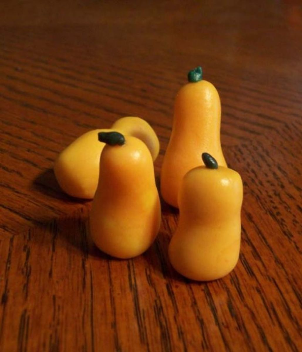 Fondant gourds or butternut squash