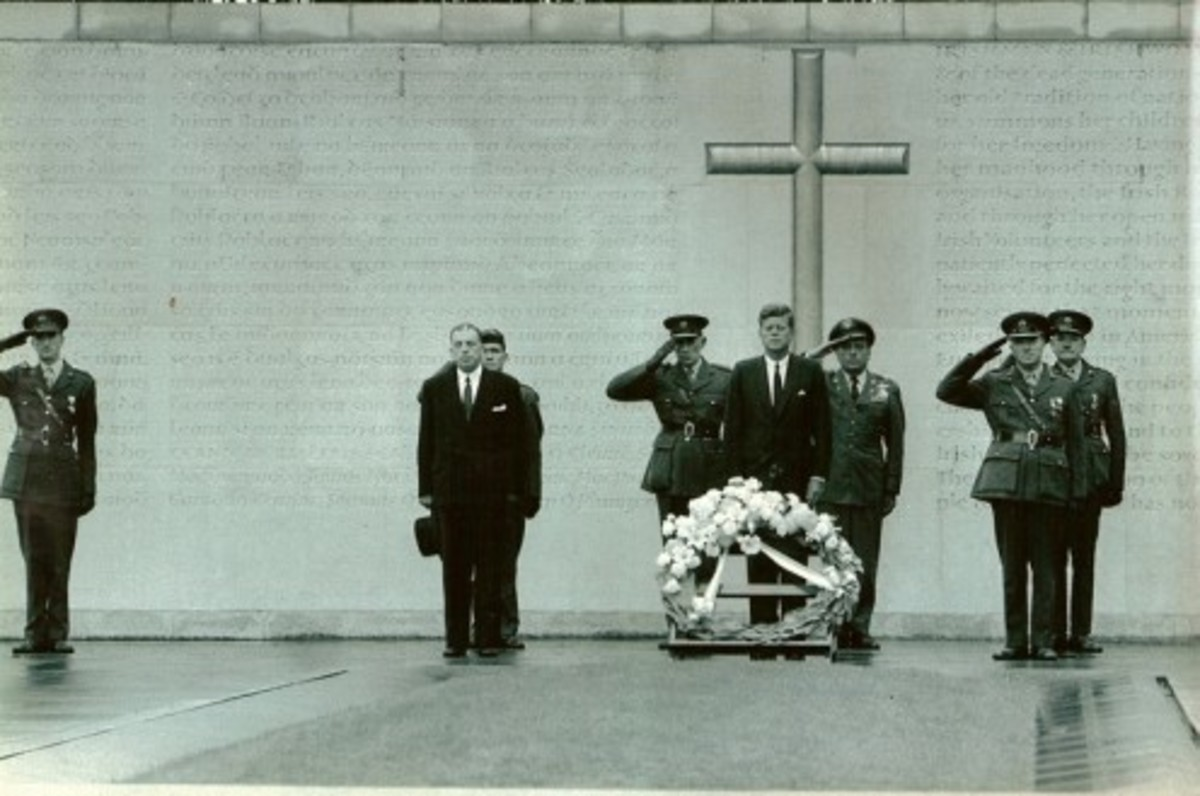 JFK in Ireland at Arbour Hill Memorial in 1963
