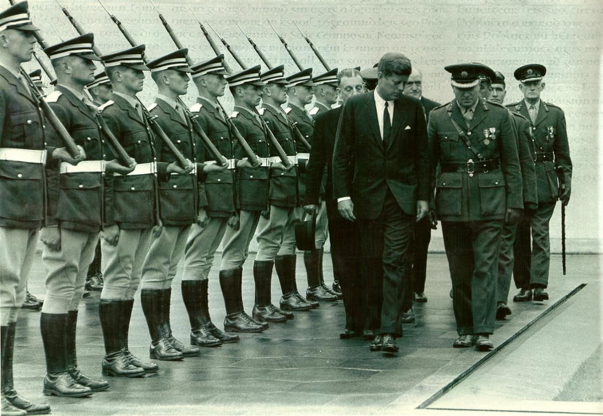 JFK at a Mass Grave in Dublin Ireland