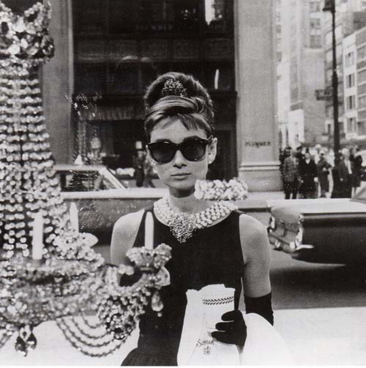 Audrey Hepburn buzzing around in Breakfast at Tiffany's