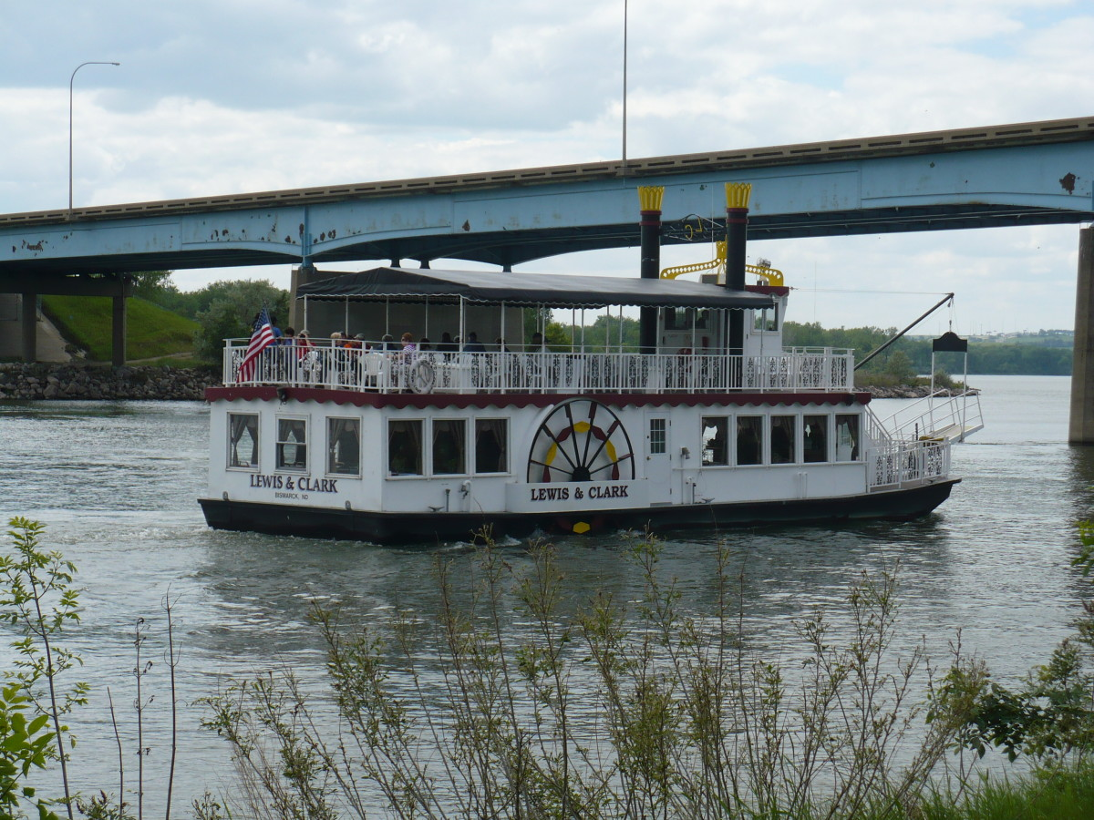 Those on the Lewis and Clark Riverboat enjoy a relaxing ride down the historic Missouri River