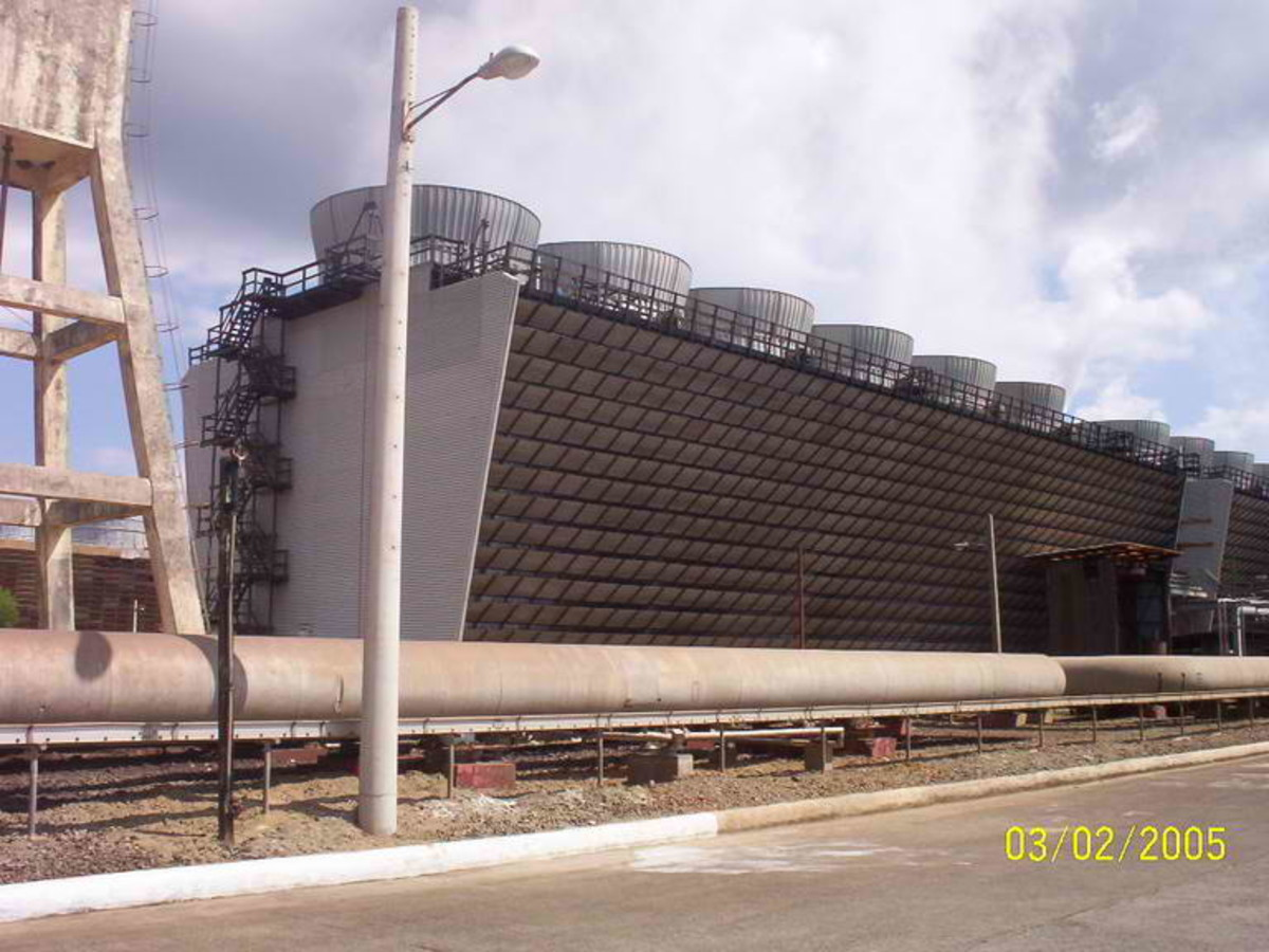 One of the 3- 110 megawatt geothermal plant in Tiwi, Albay (Photo courtesy of http://thinkgeoenergy.com/)