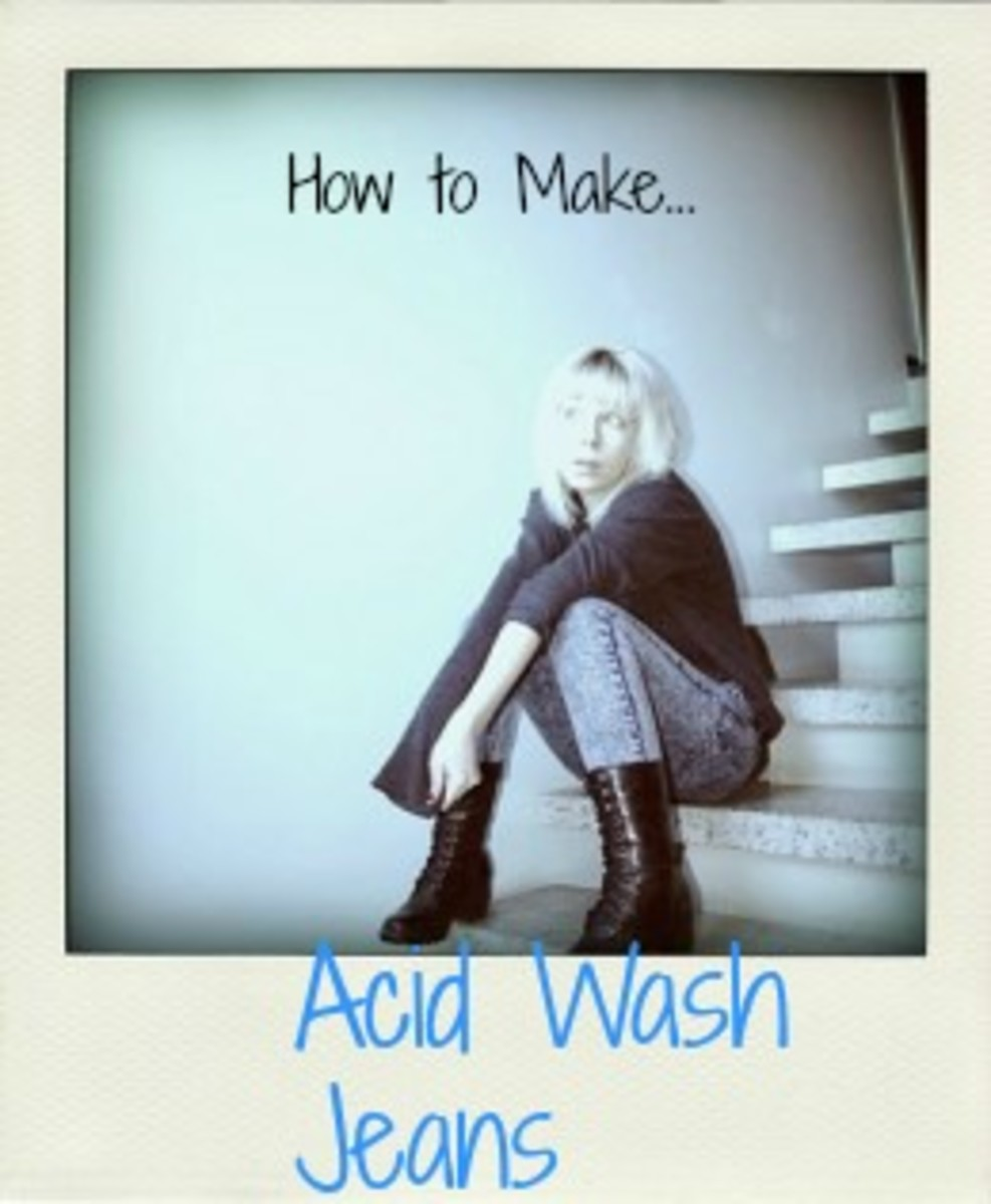 Acid Wash Jeans:  How to Make Acid Washed Jeans