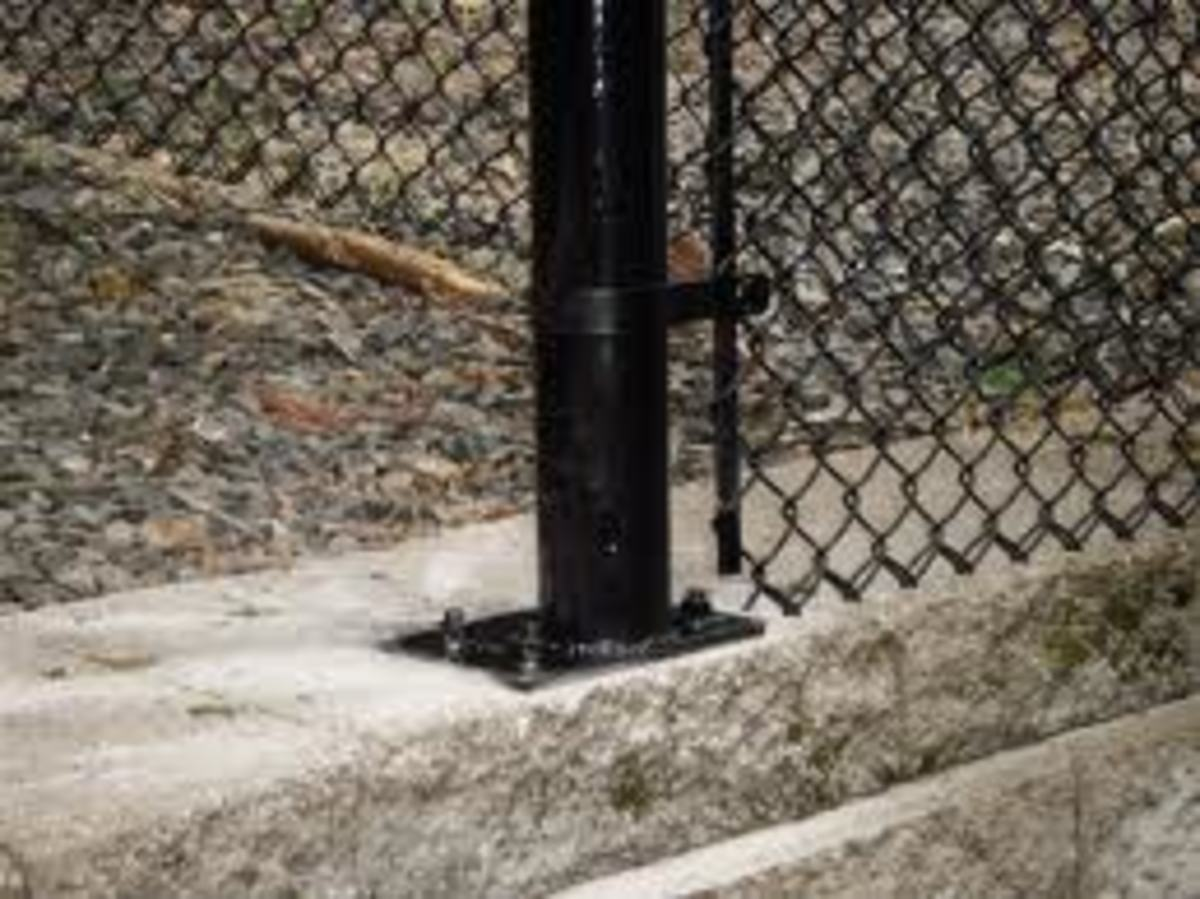 How To Install Chain Link Fence On A Stepped Wall