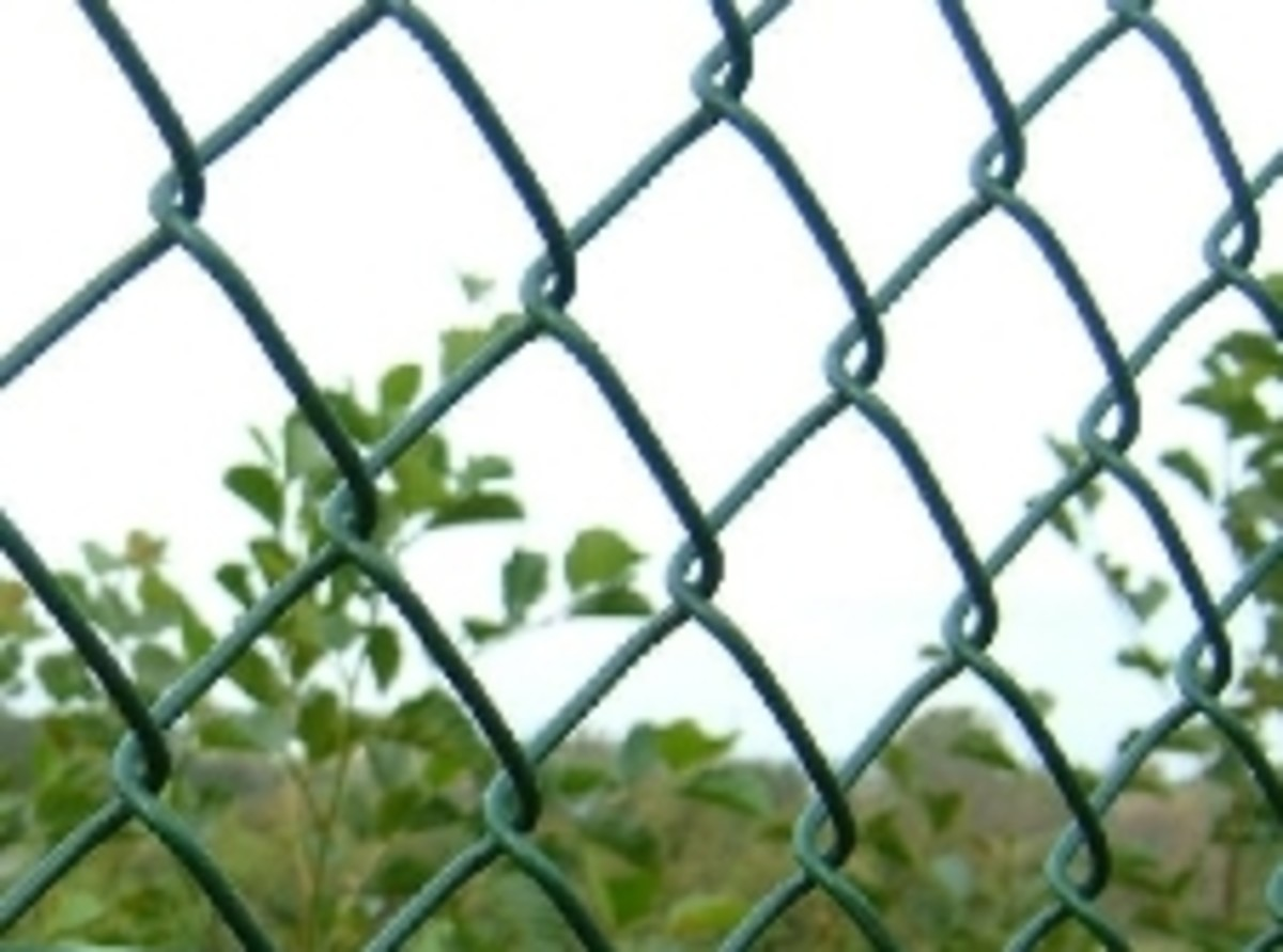 How to install chain link fence on a stepped wall. Installing Chainlink Fencing