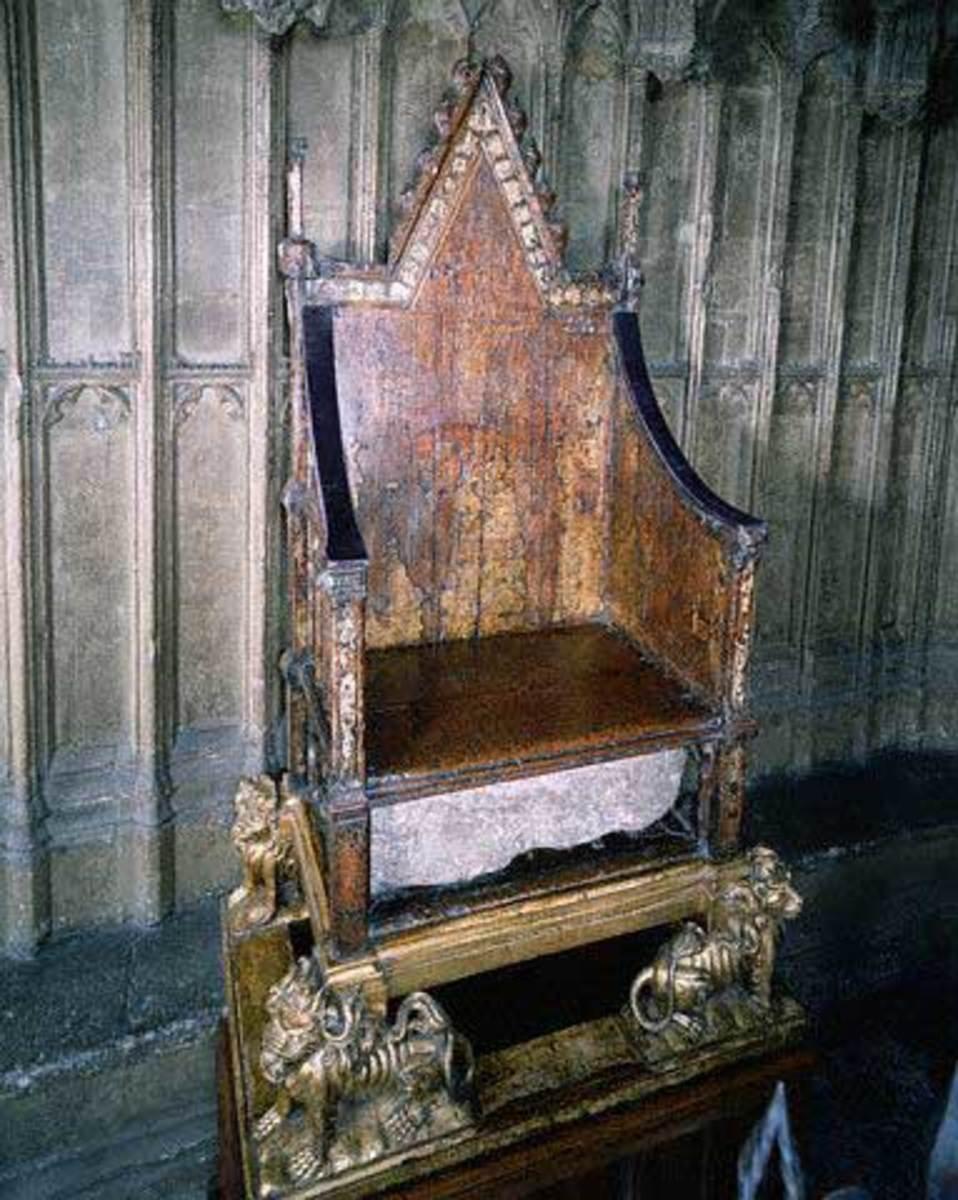 the coronation throne