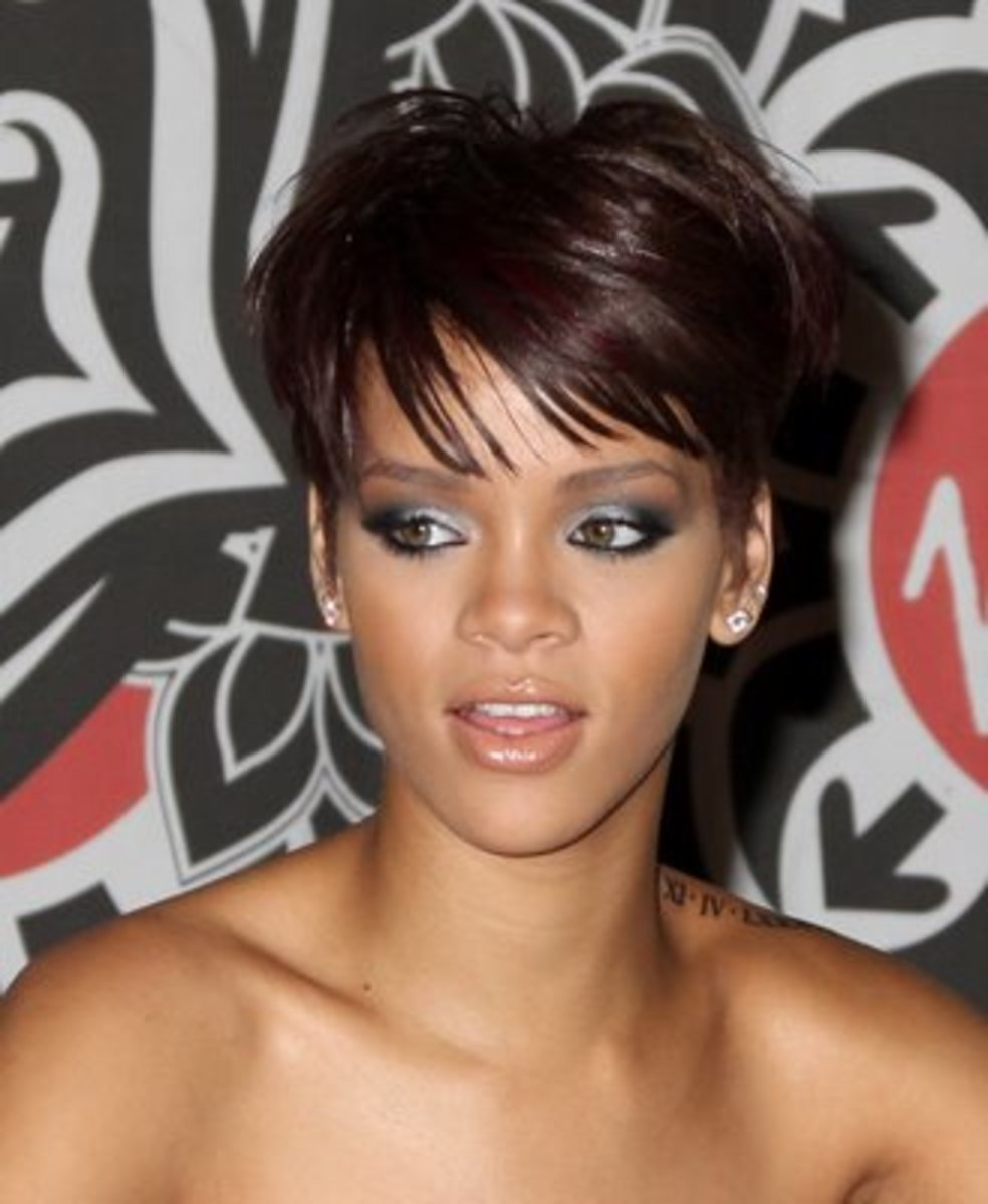 Pixie Haircut for Black Women - Rihanna Pixie Haircut