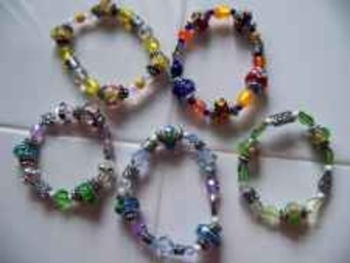 Handmade Beaded Jewelry - Stretch Bracelets