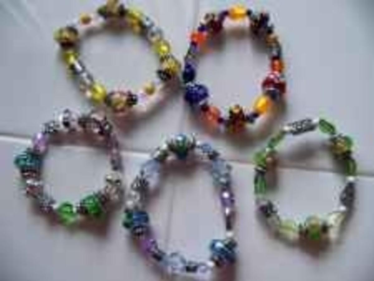 Handmade Beaded Jewelry - Stretch Bracelets