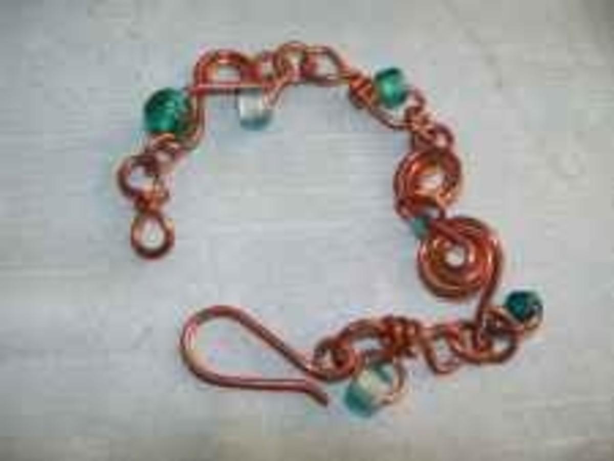 Handmade Beaded Jewelry - Copper Wire