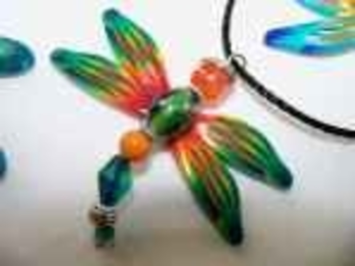Designer Beaded Jewelry - Dragonfly Necklace
