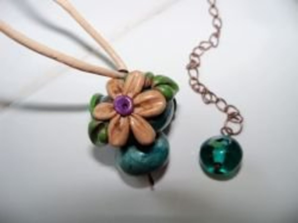 Handmade Beaded Jewelry - Rustic Mushrooms