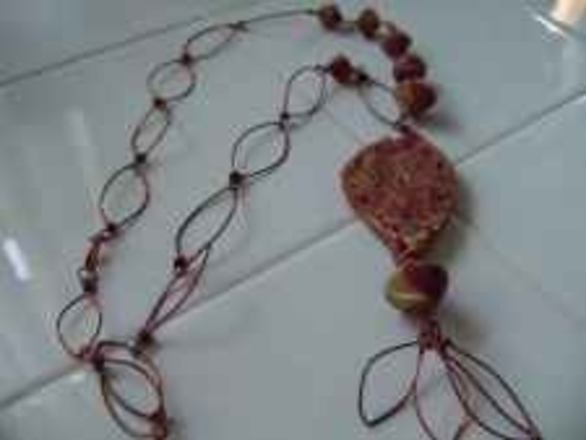 Handmade Beaded Jewelry - Mokume Gane Set