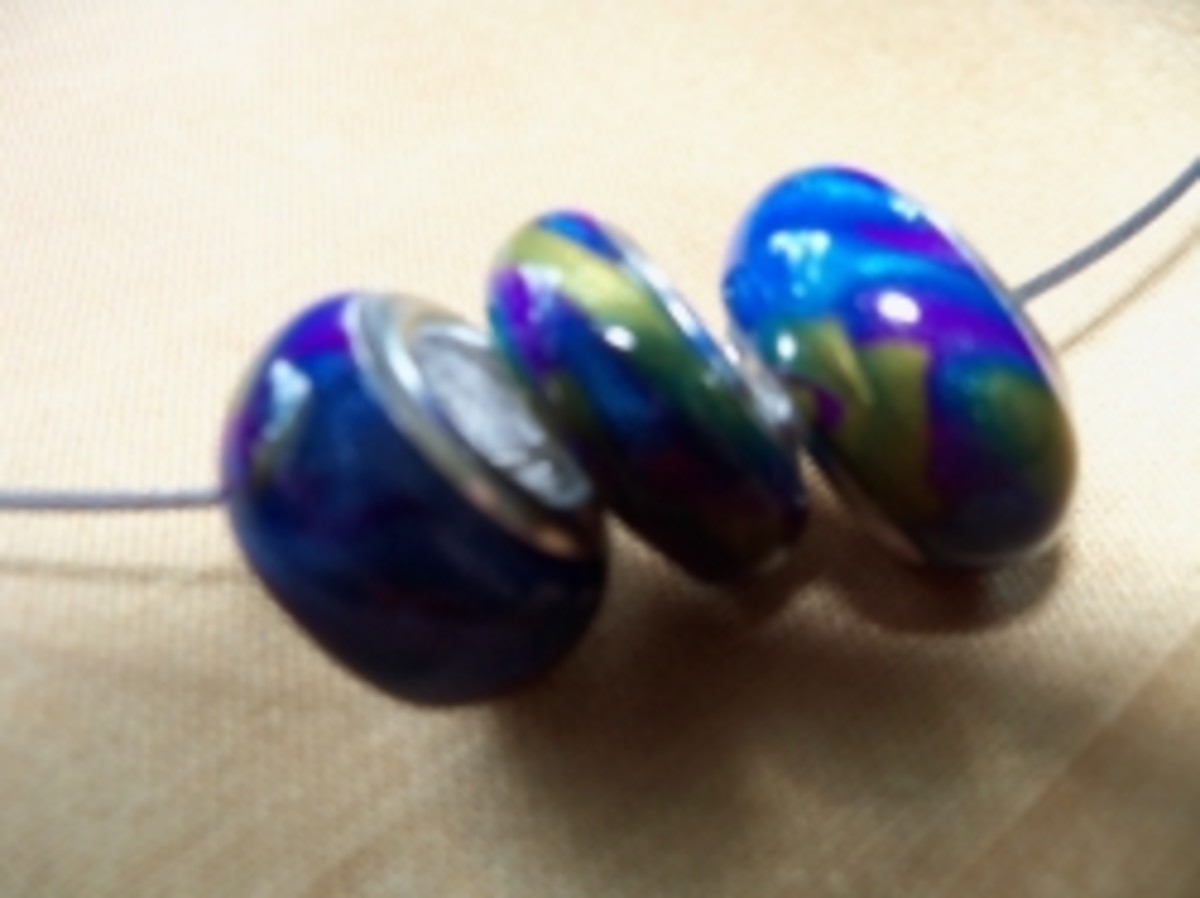 Handmade Beaded Jewelry - Pandora Blues