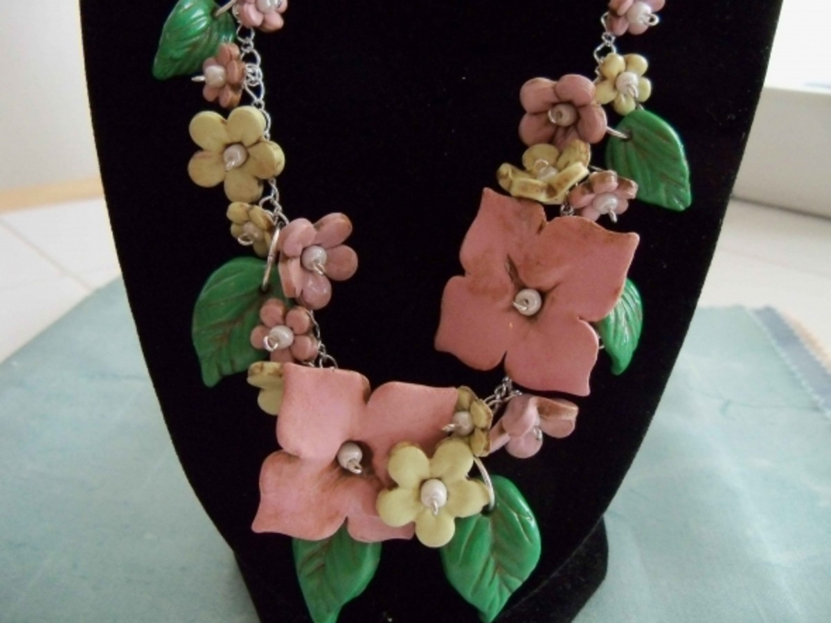 Handmade beaded jewelry - spring blossoms