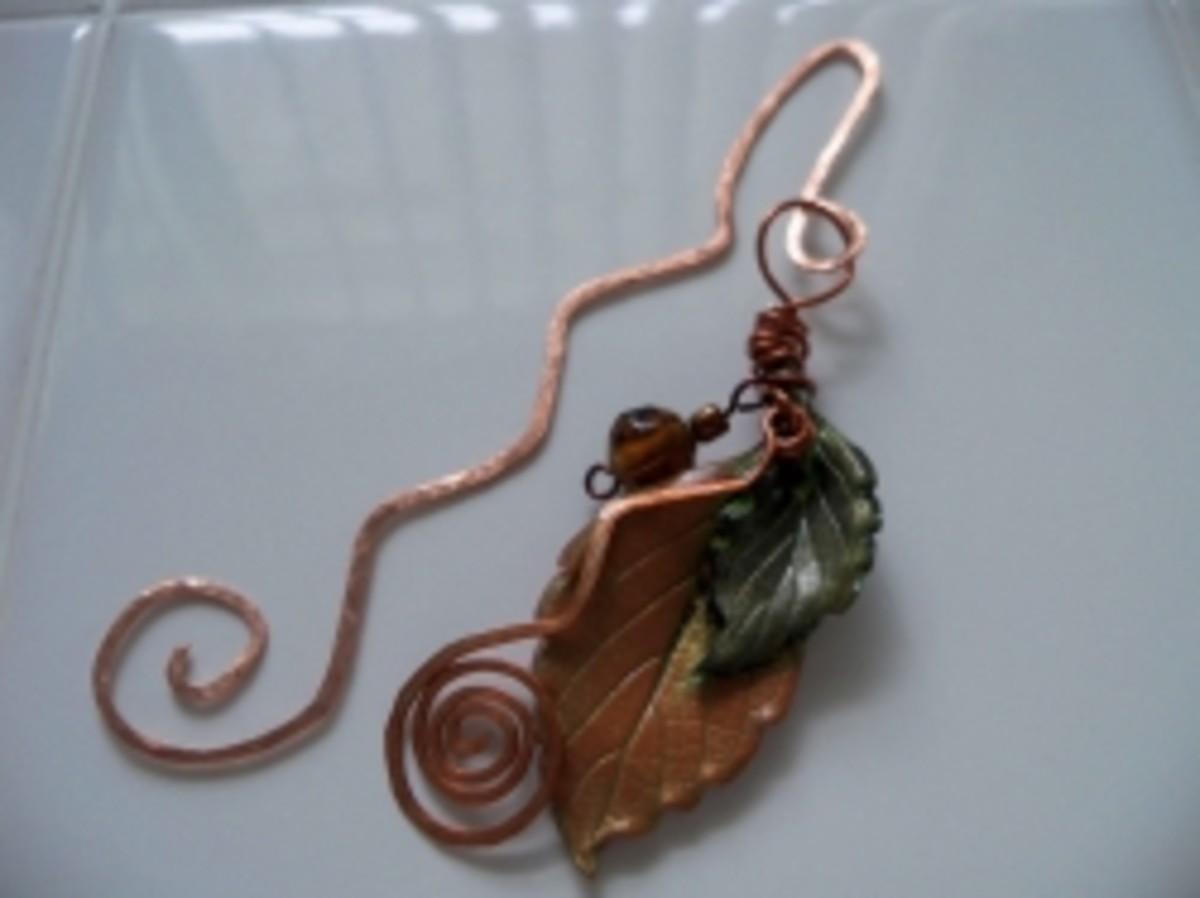 Handmade Beaded Jewelry - mixed media bookmark