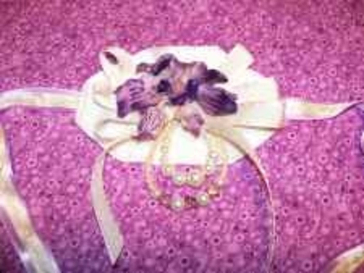 Designer Beads - Purple Wrist Corsage