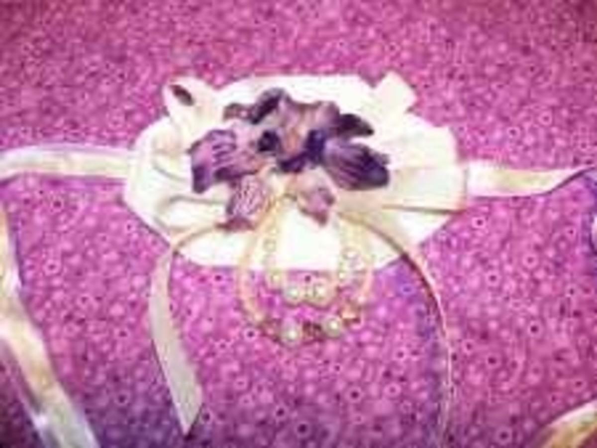 Designer Beads - Purple Wrist Corsage