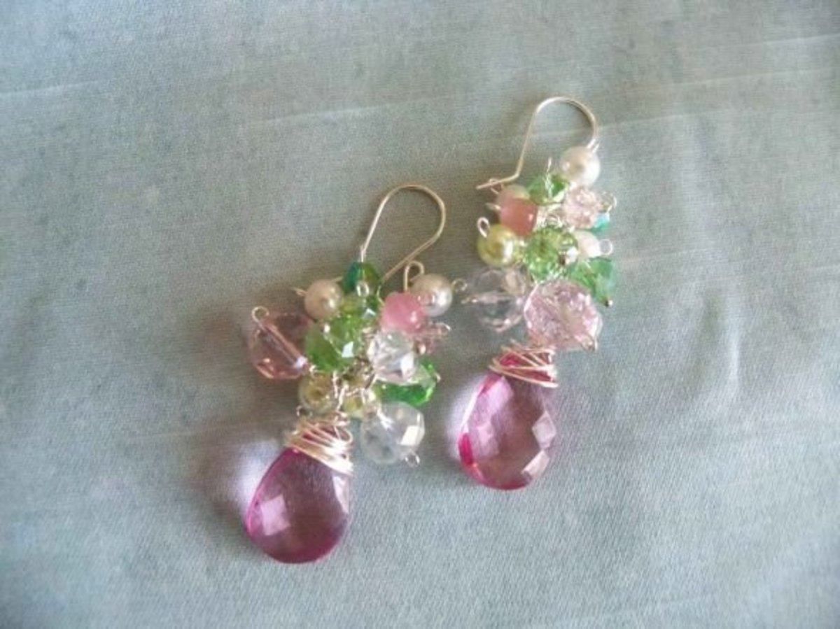 Handmade Beaded Jewelry - Spring Romance Earrings