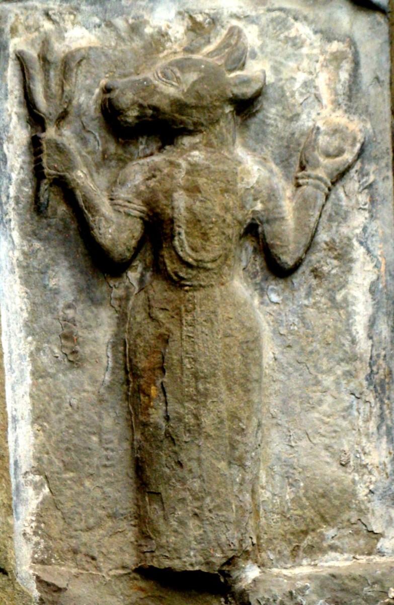 Lord Vishnu in his boar-headed Avatar Baraha