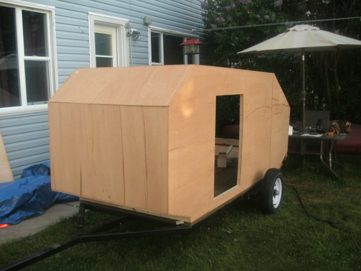 The thin plywood shell