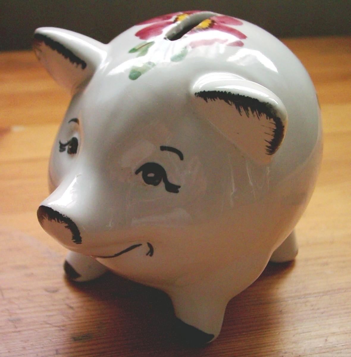 A piggy bank, circa 1970's.