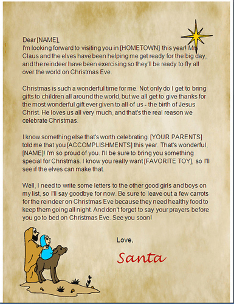 HubPages  Microsoft Word Santa Letter Template