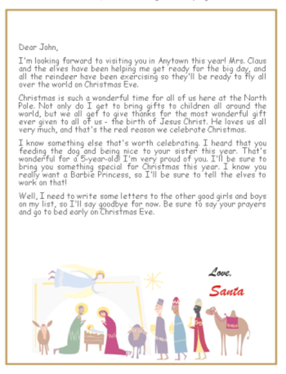 photo about Printable Letter Explaining Santa identify Printable Christian Santa Letters HubPages