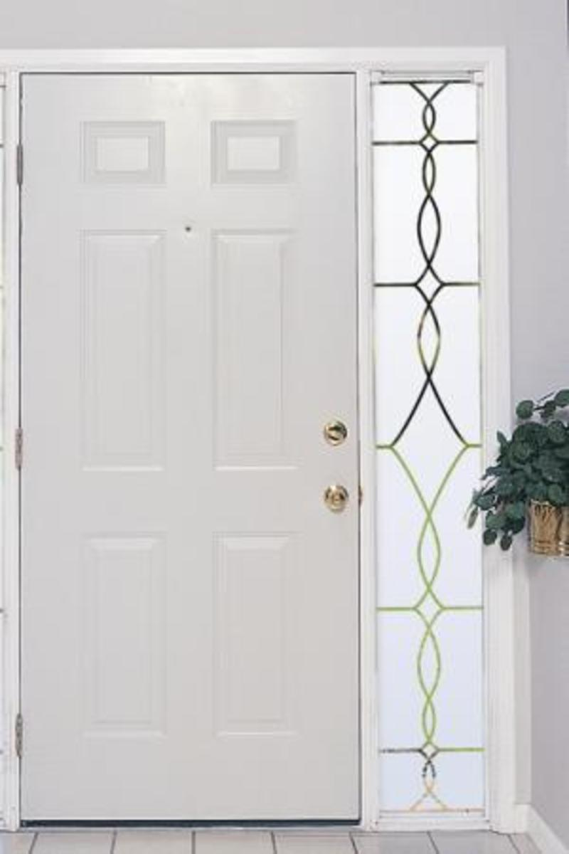 Sidelight with Window Cling to Provide the Illusion of Stained Glass