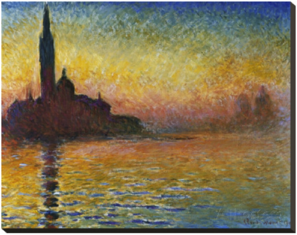 Sunset in Venice by Claude Monet (1840 - 1926).
