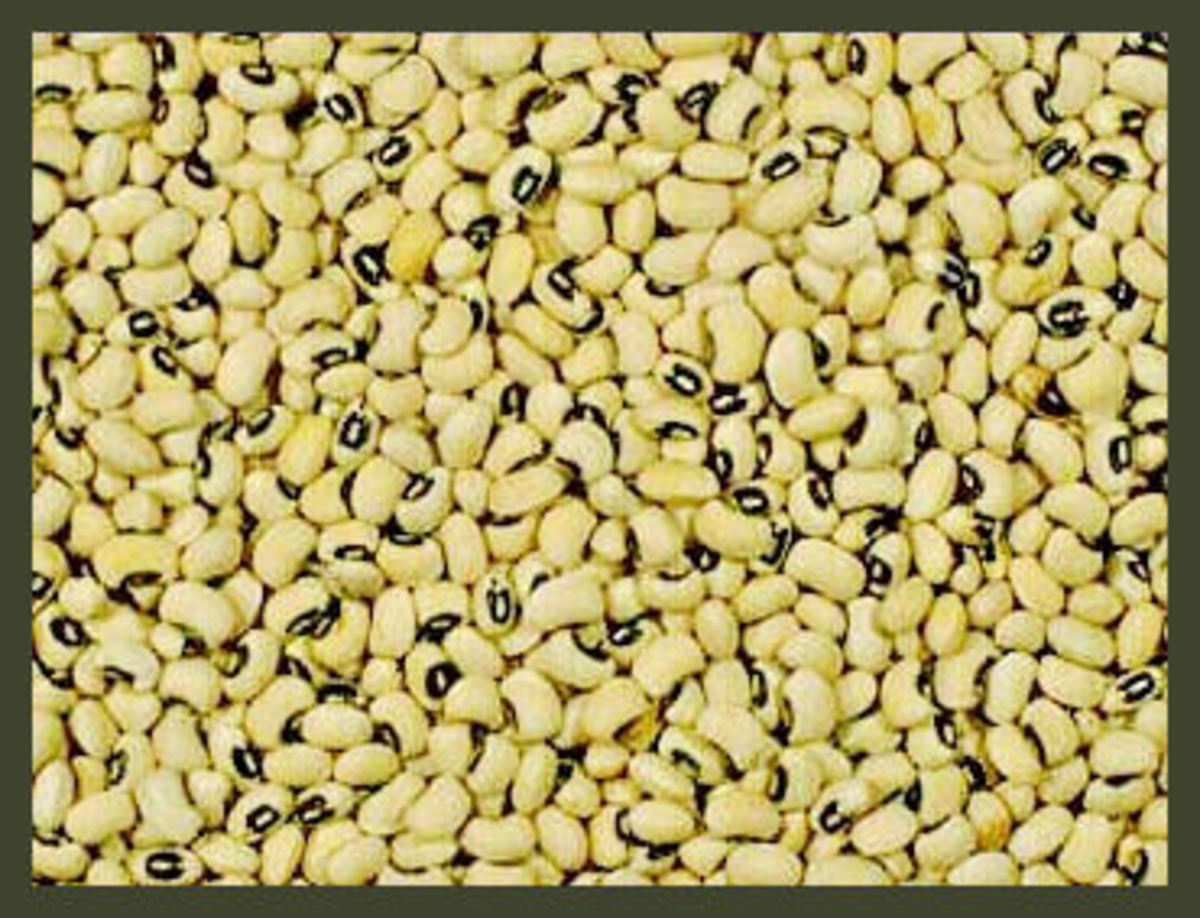 Black-eyed peas for luck on New Year's Day