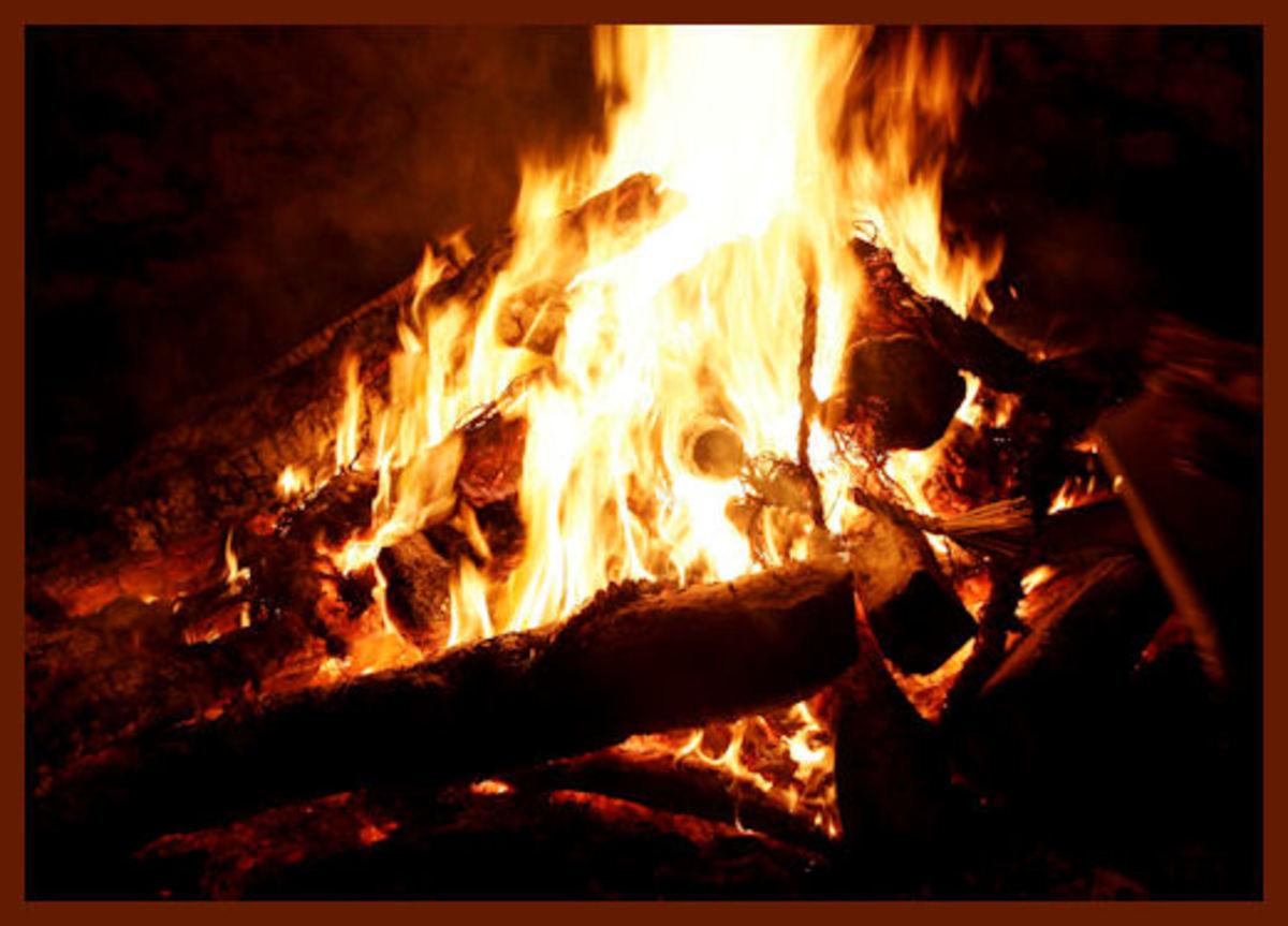 A very nice outdoor bonfire
