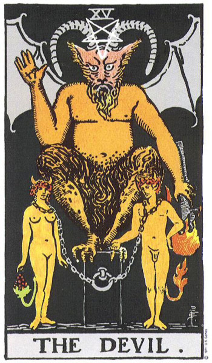 The Devil card is another which strikes fear into the hearts of many. The Devil card can represent many things, such as someone or something that may be controlling you. None of the cards are anything to be feared.