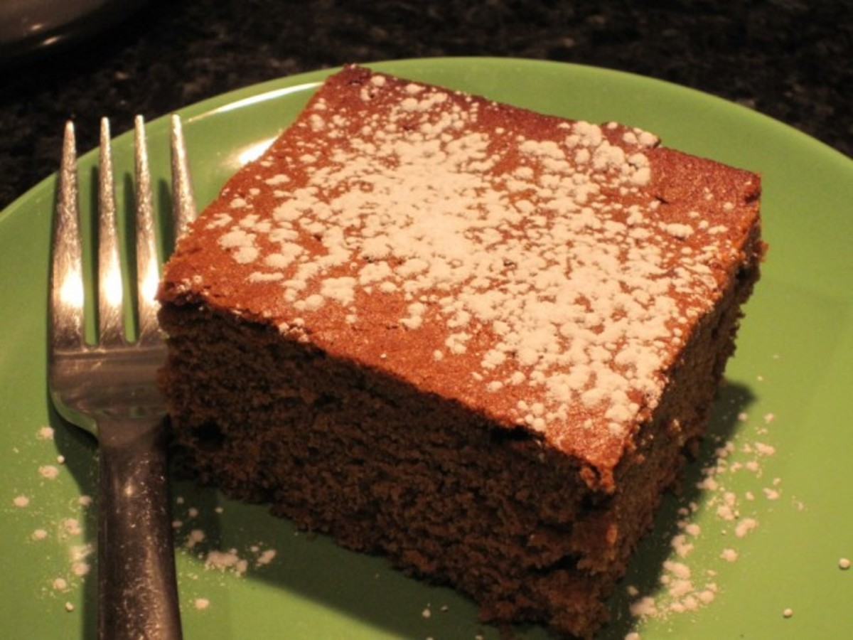 Soft, rich, dense and moist gingerbread (very different texture than gingerbread men)