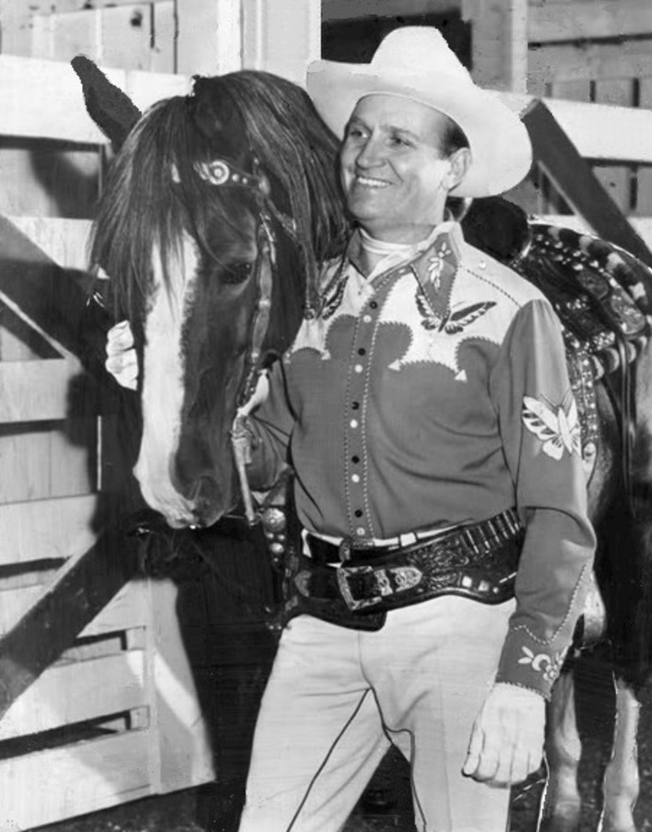 Photo of Gene Autry and Champion from the start of his television series.