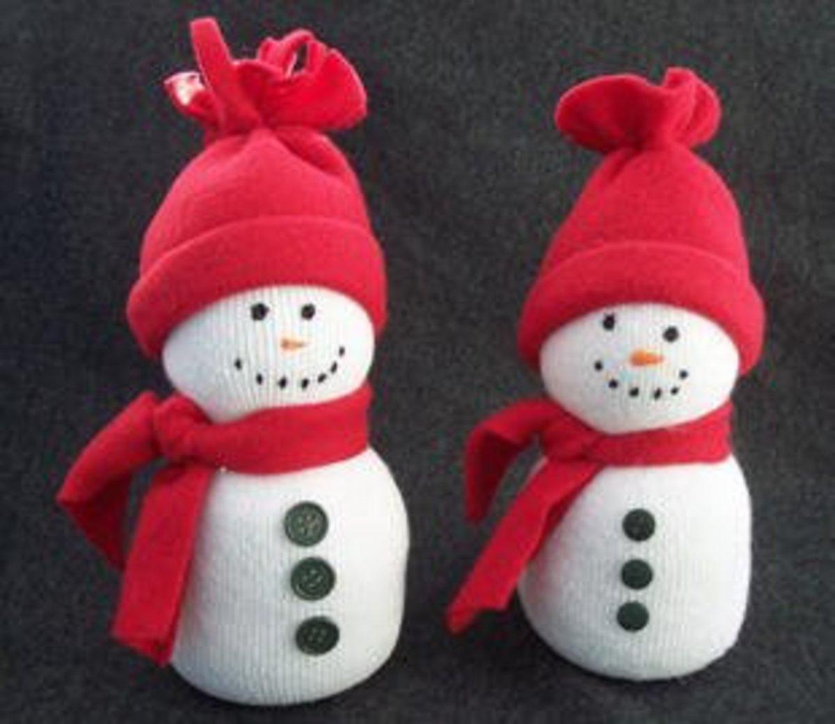sock snowman at craftelf.com