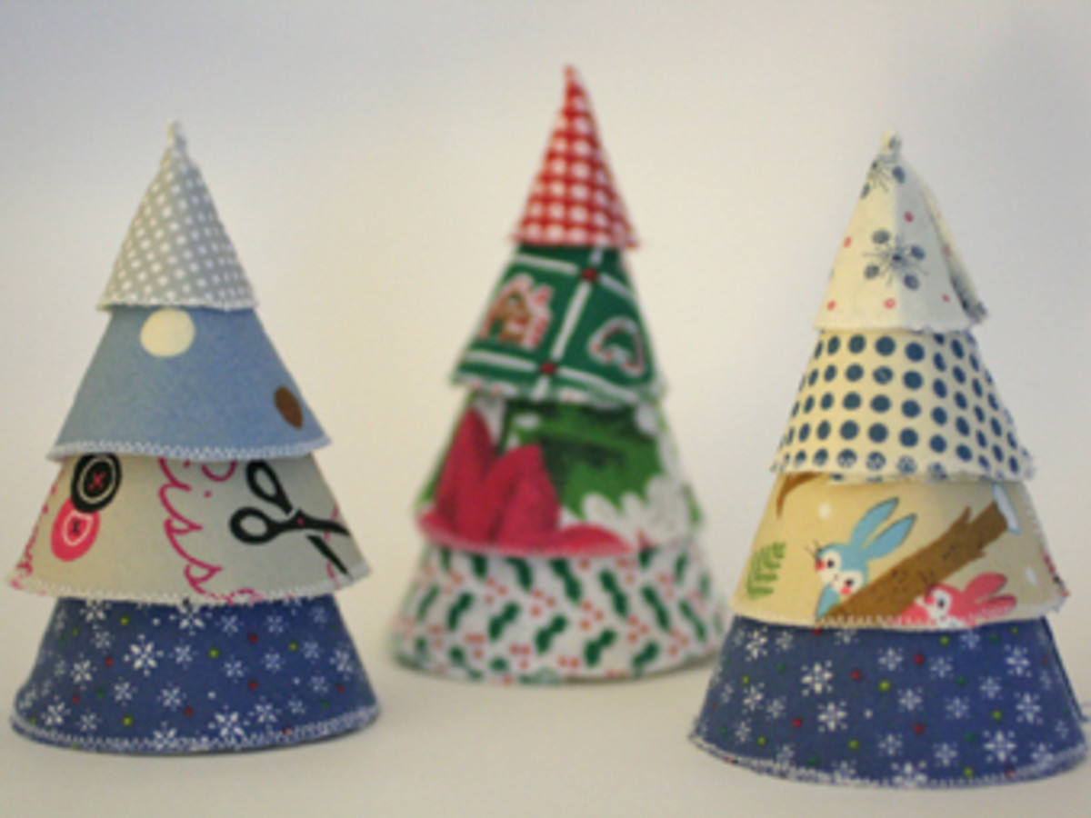 Fabric Christmas Trees at The Small Object