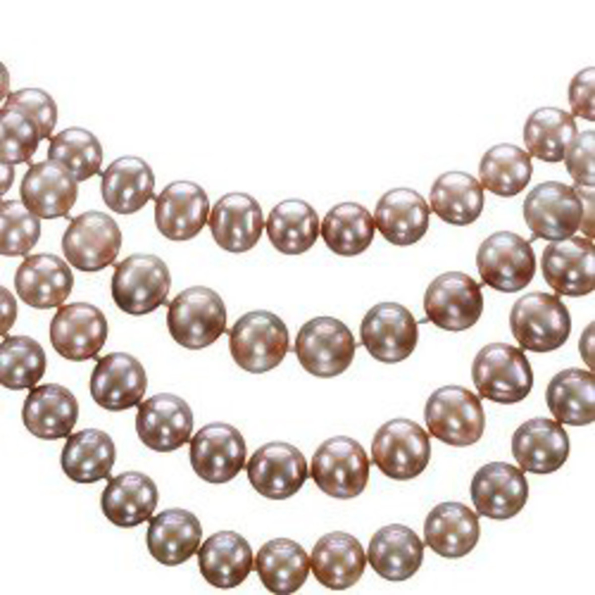 Ultra-Luster Naturally Pink Cultured Freshwater Pearl Rope Necklace