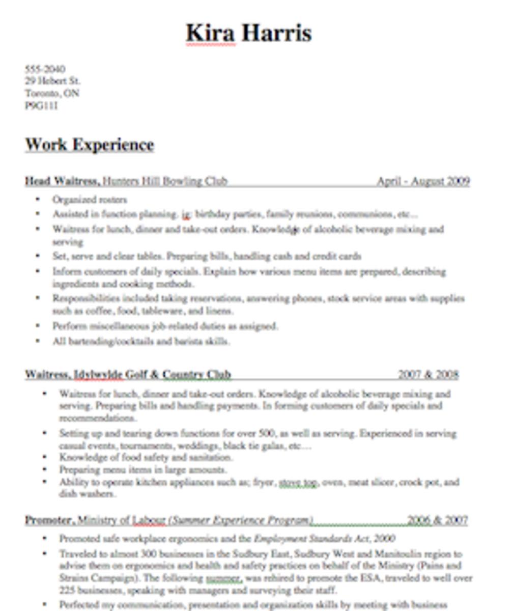 bartender resume samples - Bartender Resume Samples