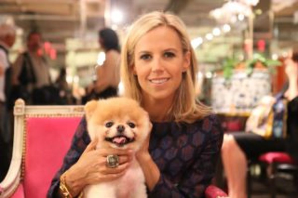 Posing with fashion designer Tory Burch!