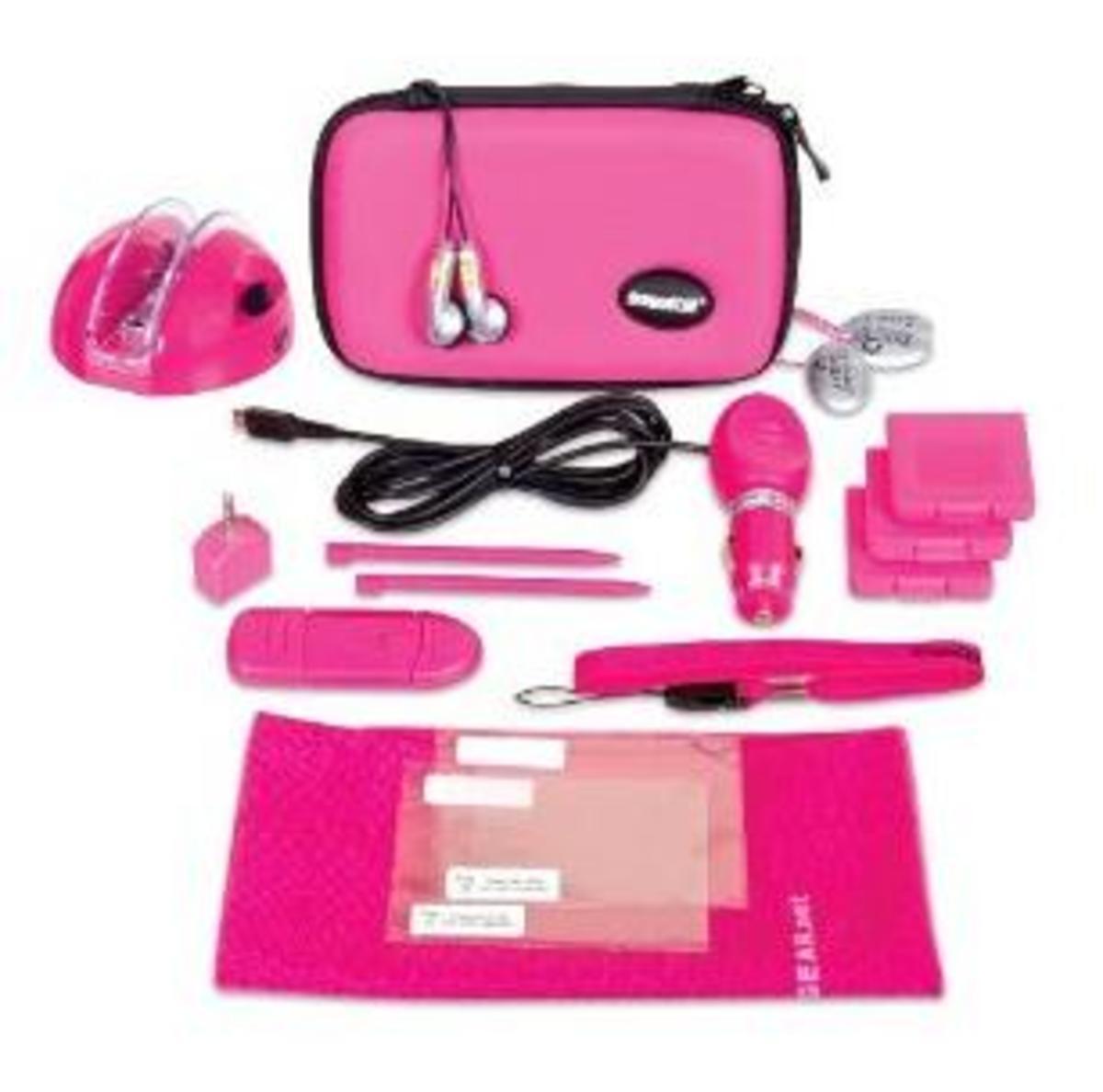 Pink Nintendo DS kit for girls