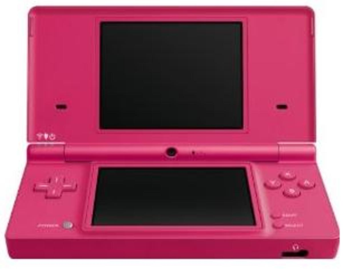 My daughters pink Nintend DS...