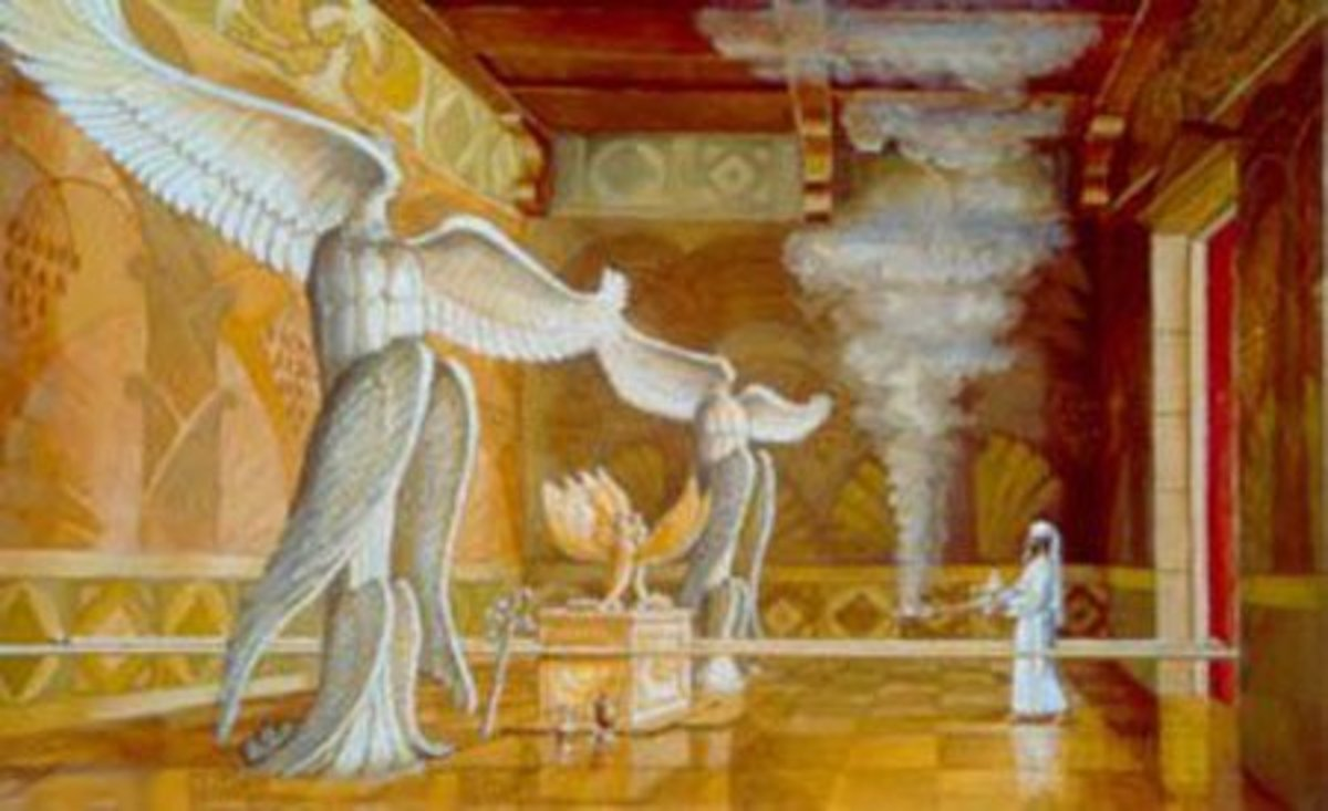 "The ""Holy of Holies"" - Tabernacle of the Temple - Cherubim Statues"