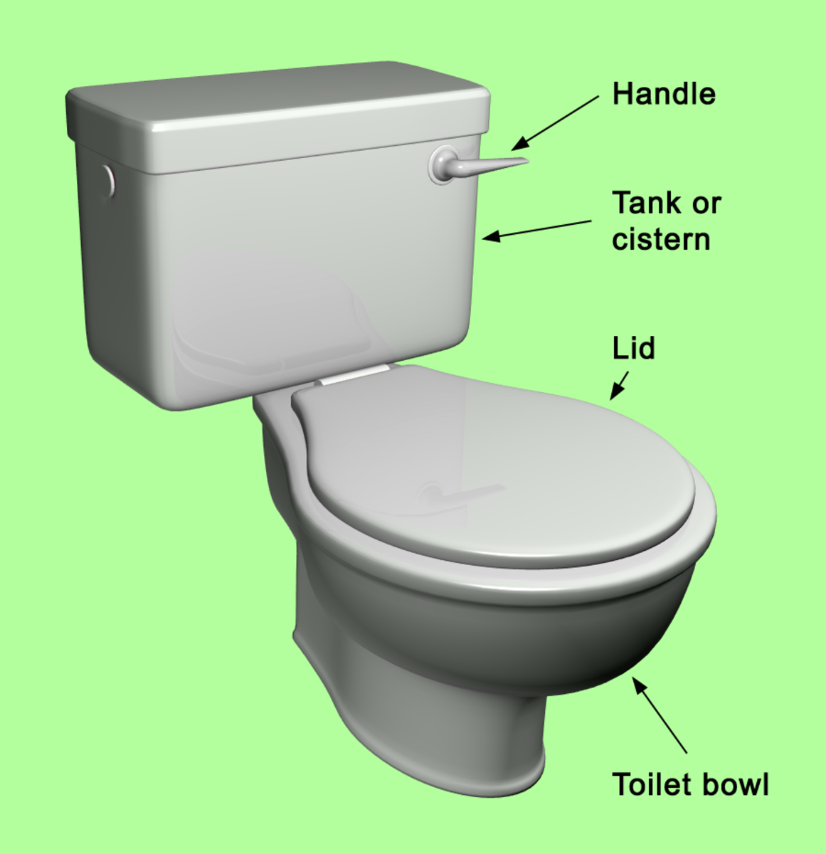 How To Clean Your Toilet With A Steamer Or Boiling Water Hubpages - Toilet bowl tank parts
