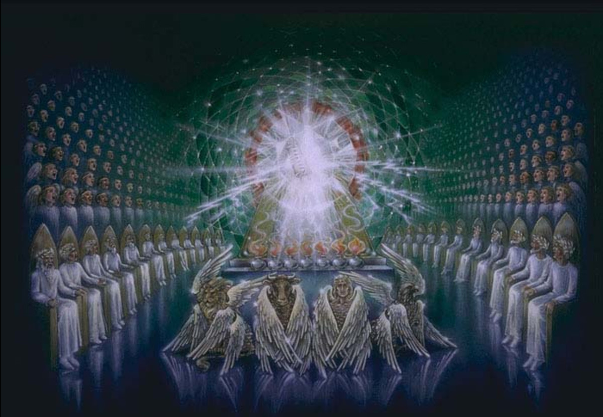 """Emerald Throne of God and Choirs of Angels"" - by Pat Marvenko Smith  (1992)"