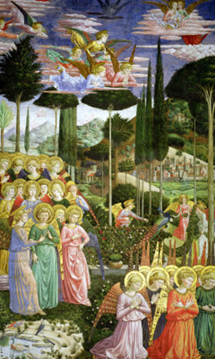 """Angels in a Heavenly Landscape"" - by Benozzo Gozzoli"